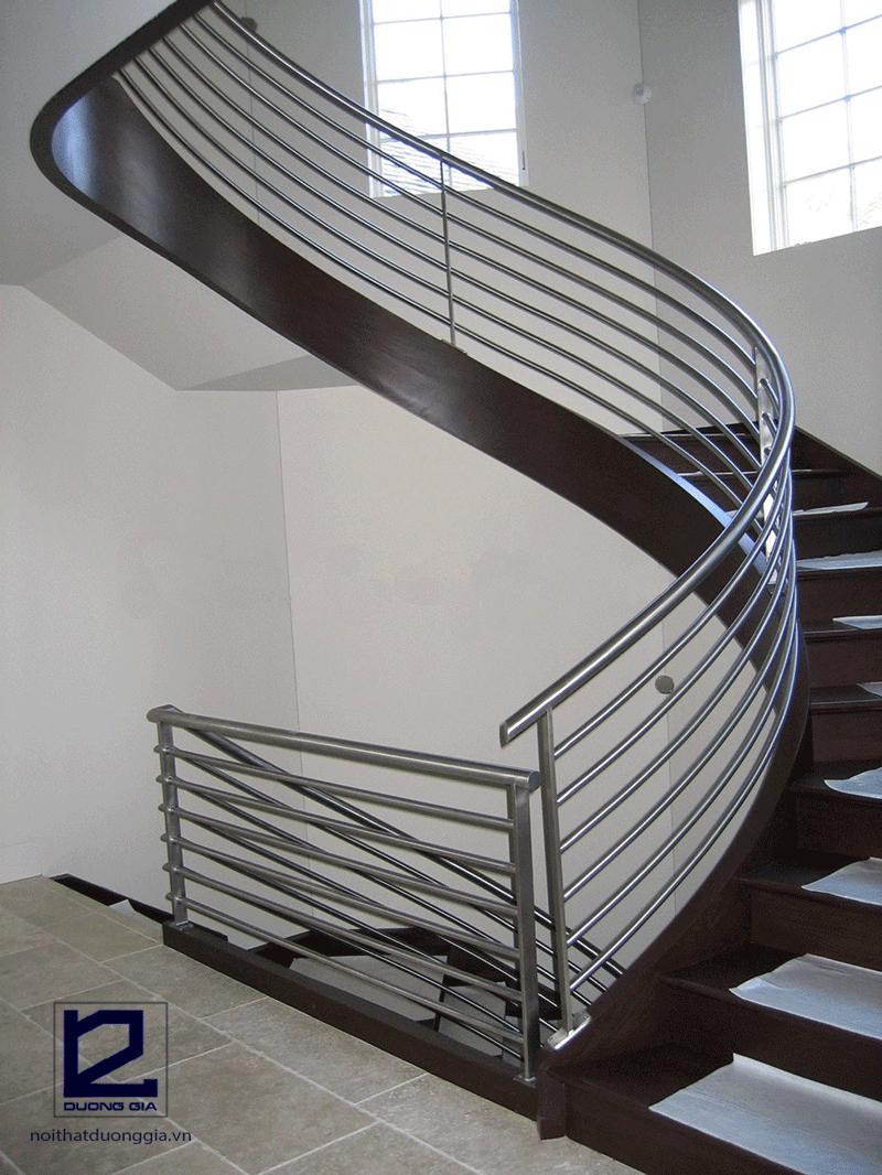Mẫu cầu thang inox đẹp DG-CTI002