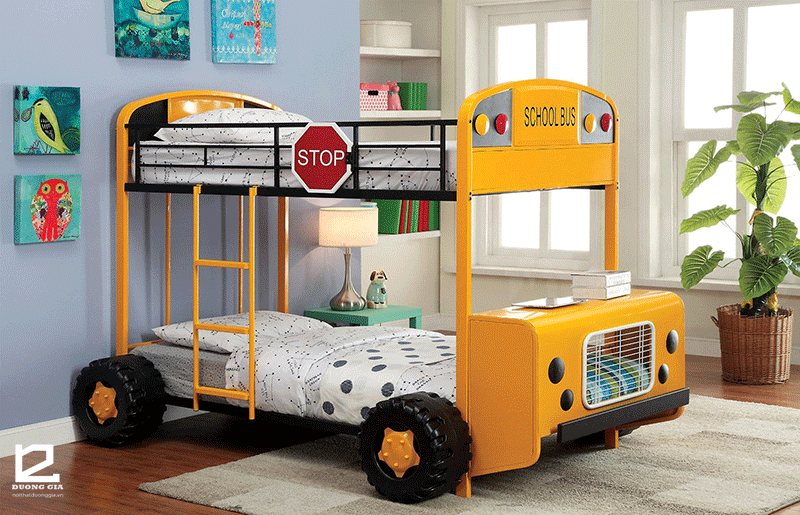 Mẫu giường tầng cho bé trai DG-BK002