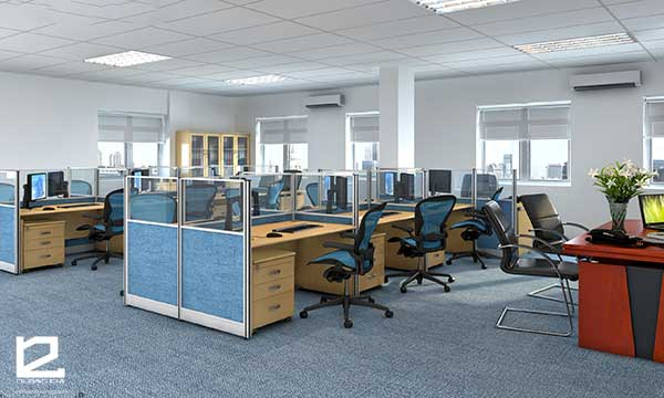 Thiết kế và thi công nội thất văn phòng phù hợp với thương hiệu công ty