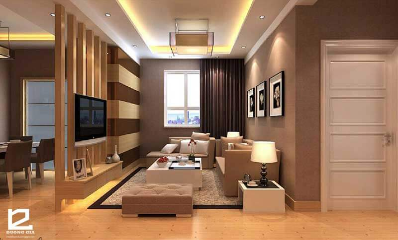 Vách ngăn gỗ trang trí phòng khách VNG-PK02