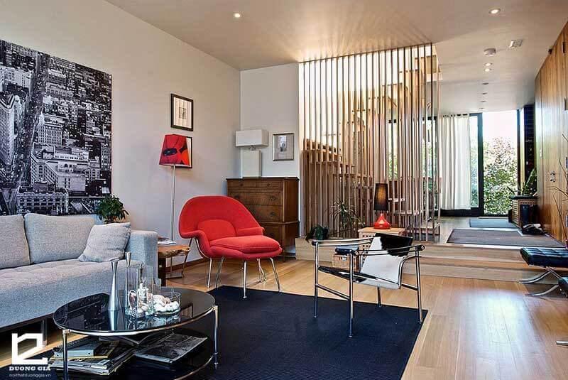 Báo giá 5 mẫu vách ngăn gỗ trang trí phòng khách đẹp nhất 2018