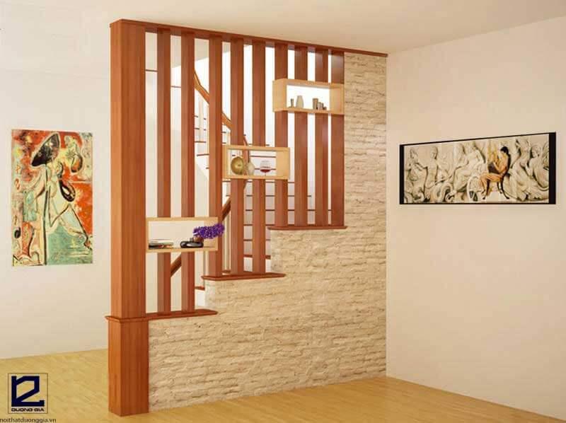 Vách ngăn gỗ cầu thang VGCT-DG02