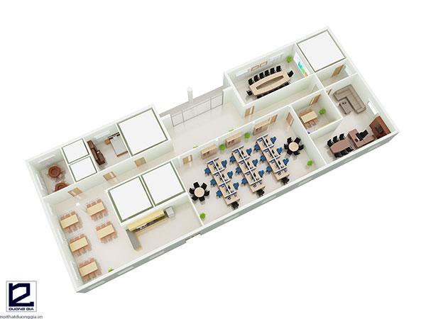 Thiết kế nội thất văn phòng làm việc đẹpVP-DG13