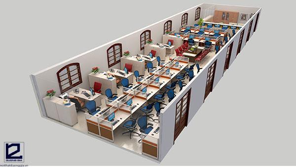 Thiết kế nội thất văn phòng làm việc công tyVP-DG02