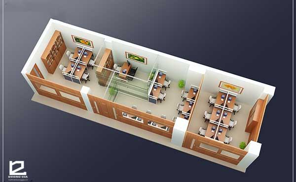 Thiết kế nội thất văn phòng làm việc công tyVP-DG03