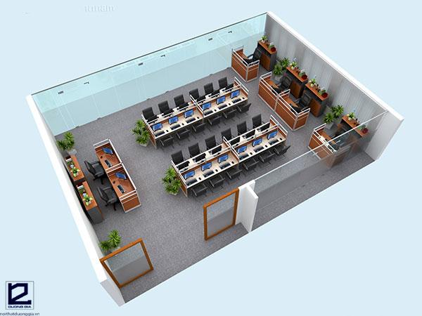 Thiết kế nội thất văn phòng làm việc đẹpVP-DG15