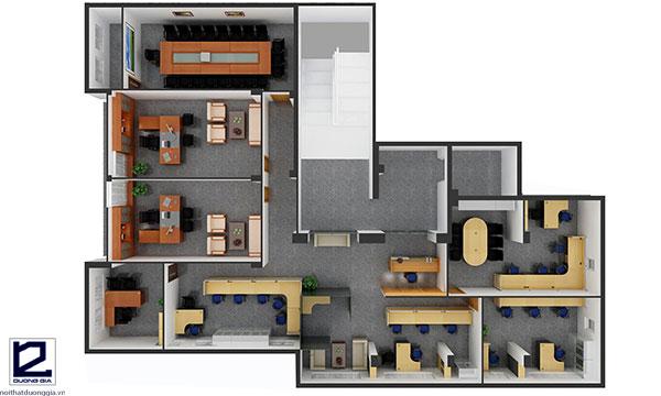 Mẫu thiết kế văn phòng đẹpVP-DG17