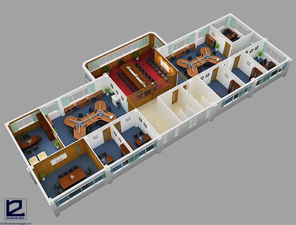 Thiết kế văn phòng làm việc đẹpVP-DG12