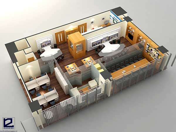Thiết kế nội thất văn phòng làm việcđẹp VP-DG18