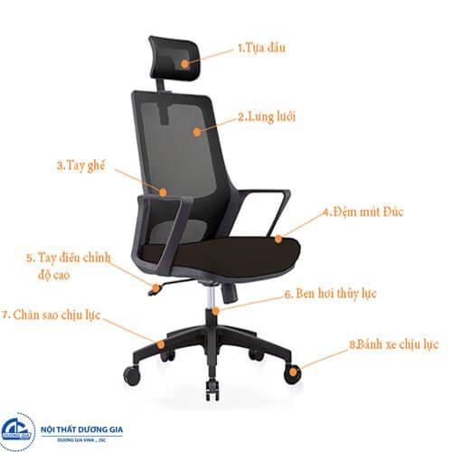 Mẫu ghế giám đốc Fami - GX805D mang đến phong cách thời trang, cá tính