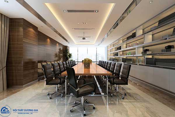 Mẫu thiết phòng họp đẹp PH-DG23 sử dụng tường âm trần