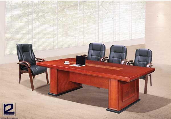 Báo giá bộ bàn ghế phòng họp bằng gỗ CT2412V1-GH05