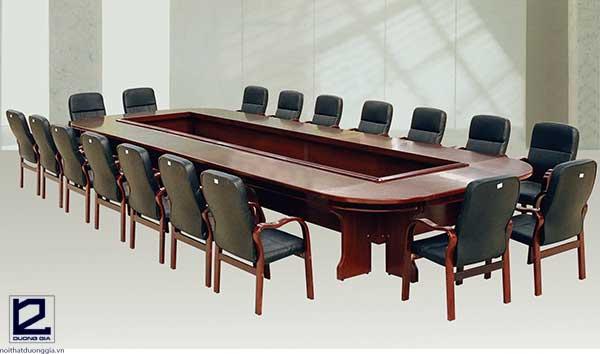 Báo giá bộ bàn ghế phòng họp bằng gỗ CT5022H1R8-GH02(GH08)