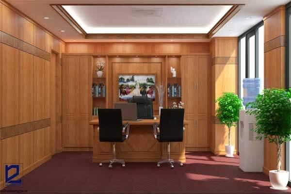 Thiết kế phòng Giám đốc công ty Trường Thịnh GD-DG18