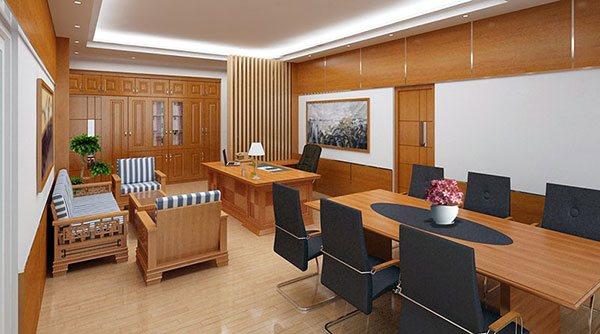 Lựa chọn bàn ghế trong quá trình thiết kế phòng tổng giám đốc đẹp, sang trọng