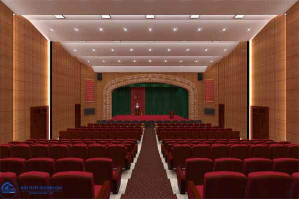 Bố trí nội thất trong thiết kế nội thất phòng hội trường