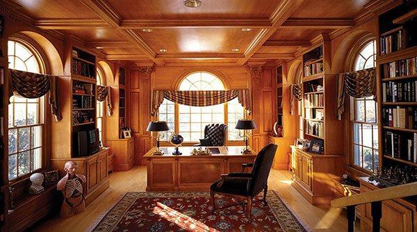 Nội thất phòng giám đốc với tông màu chính là nâu trầm tạo nên sự sang trọng, đẳng cấp