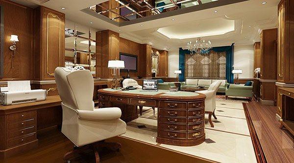 Các đồ vật trang trí ở đây cũng được thiết kế với kiểu dáng, đường nét tinh tế đồng bộ với phong cách nội thất của toàn bộ căn phòng