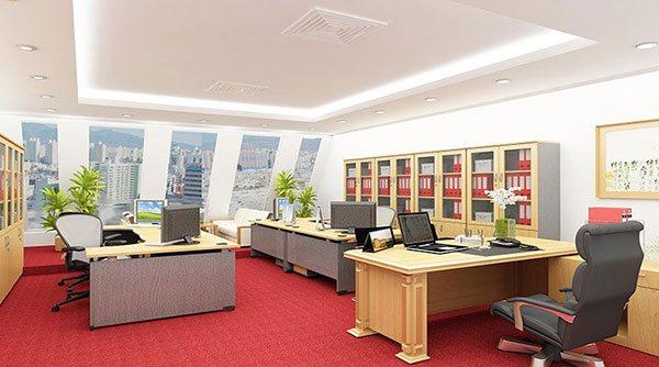 Mẫu thiết kế phòng làm việc cho tổng giám đốc theo phong cách hiện đại số 1