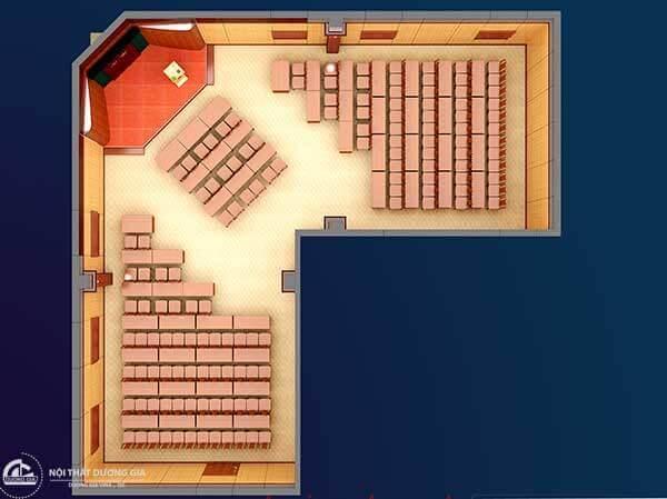 Mẫu thiết kế nội thất phòng hội trường thứ 6