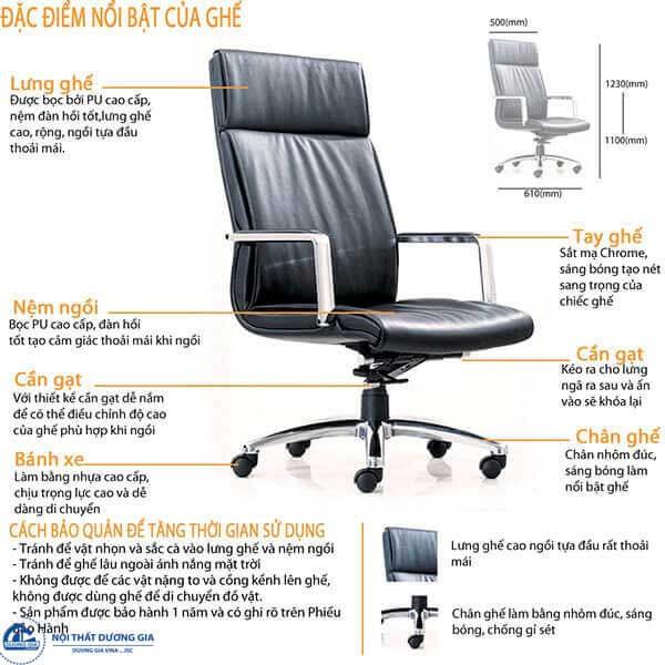 Kích thước của ghế giám đốc
