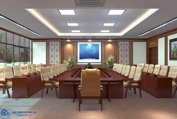 Mẫu thiết kế nội thất phòng họp đẹp số 7 Tông màu trắng sáng nổi bật