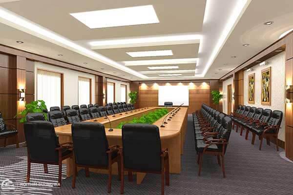 Một thiết kế phòng họp đẹp phải tạo được sự thoải mái dễ chịu