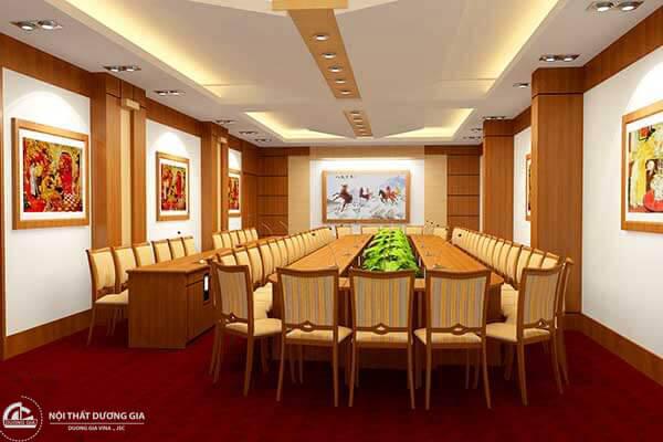 Yếu tố phong thủy cũng góp phần tạo nên thiết kế phòng họp đẹp hoàn hảo