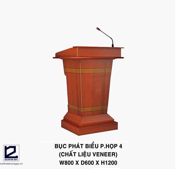 Mẫu bục phát biểu đẹp bằng gỗ Veneer BPB-DG01