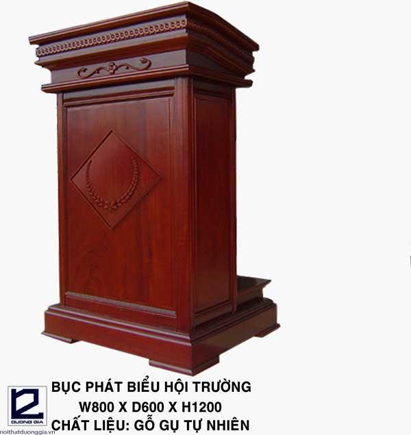 Mẫu bục phát biểu gỗ tự nhiên cao cấp BPB-DG02