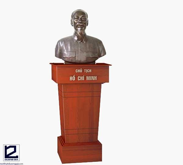 Mẫu bục tượng Bác gỗ tự nhiên BTB-DG01