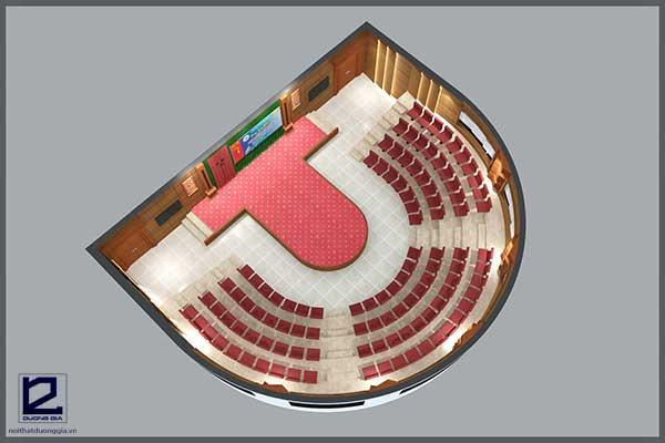 Mẫu thiết kế nội thất hội trường đa năng HT-DG24 view 1