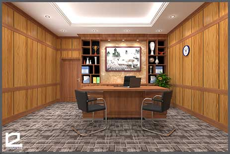 Mẫu thiết kế nội thất phòng giám đốc GD-DG20