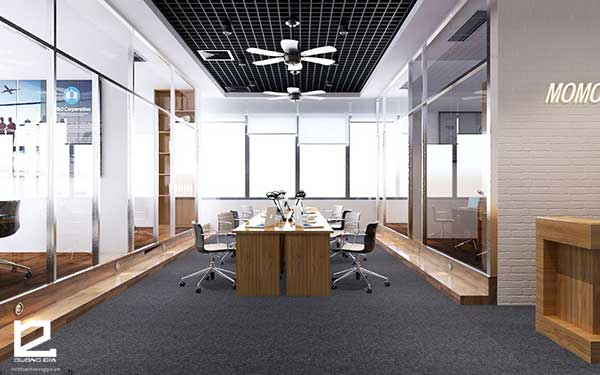 Mẫu thiết kế nội thất văn phòng làm việc đẹp theo phong cách hiện đại