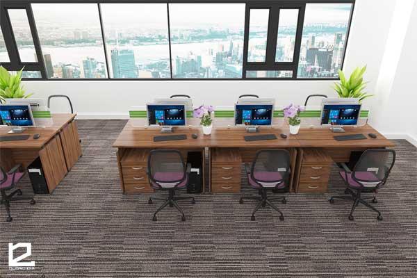 Bàn làm việc văn phòng BVP-DG01 đẹp, hiện đại