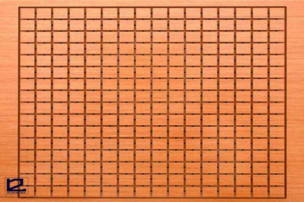 Vách gỗ tiêu âm rãnh vuông