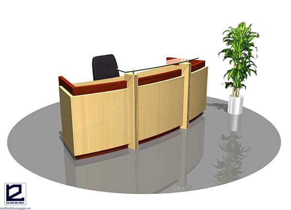 Mẫu quầy lễ tân văn phòng đẹp QLTVP02
