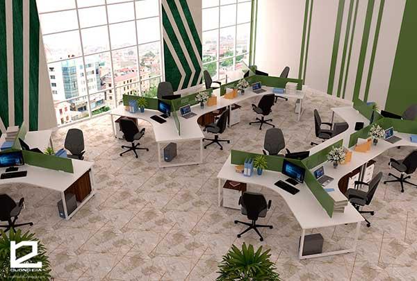 Module bàn làm việc văn phòng BVP-DG04