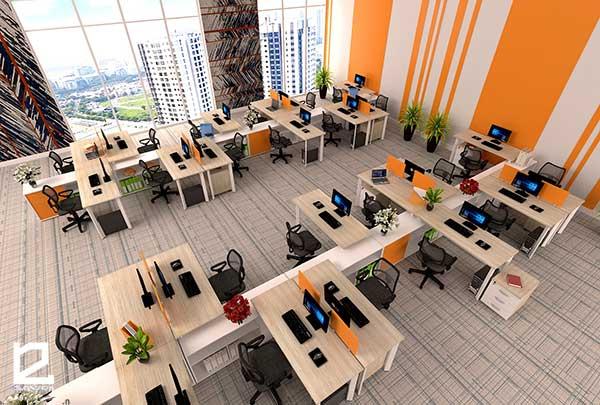 Module bàn làm việc văn phòng BVP-DG05