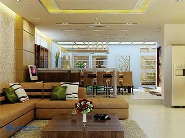 Top 10 mẫu thiết kế phòng khách và bếp liên thông đẹp, ấn tượng nhất