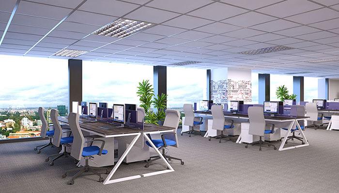 Cách thiết kế văn phòng 50m2 hiện đại