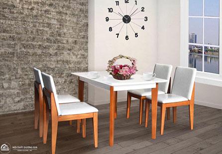 Bộ bàn ghế phòng ăn giá rẻHGB62A, HGB62B + HGG62