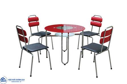 Bộ bàn ghế phòng ăn khung thép B39 + G39