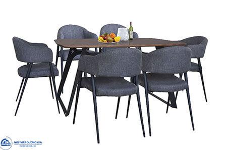 Bộ bàn ghế ăn B64 + G64 khung thép sơn tĩnh điện không hoen gỉ