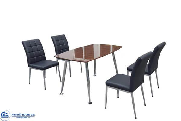 Bộ bàn ghế ăn gỗ Veneer óc chó + da CN (4.510.000 VNĐ)