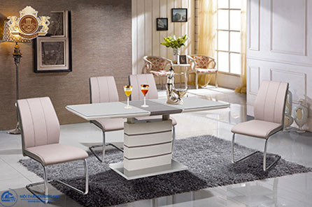Bộ bàn ghế phòng ăn sang trọng, hiện đại BA124 + GA124