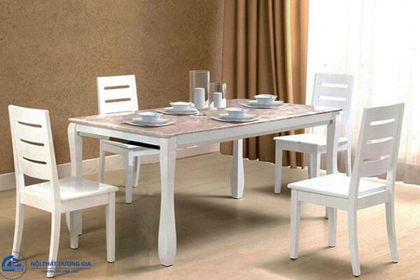 Bộ bàn ghế phòng ăn bằng gỗ đẹp HGB60, HGG60