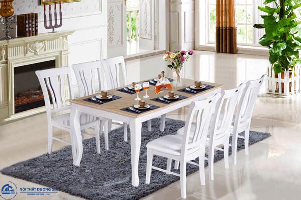 Bộ bàn ghế phòng ăn hiện đại HGB61, HGB61B + HGG61