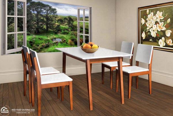 Bộ bàn ghế ăn bằng gỗHGB63A, HGB63B + HGG63