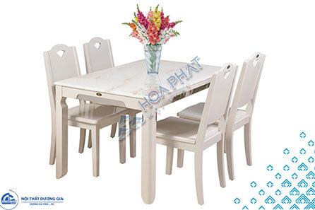Bộ bàn ghế phòng ăn gỗ tự nhiênHGB65A, HGB65B + HGG65